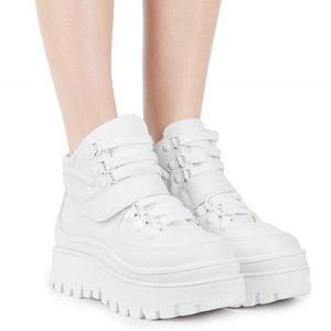 Jeffrey Campbell White Top Peak Platform Sneakers